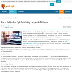 How to find the best digital marketing company in Melbourne