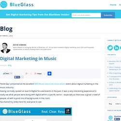 Digital Marketing in Music