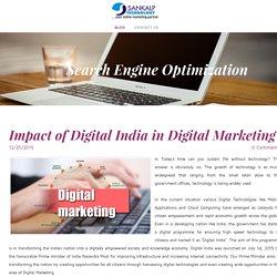 Impact of Digital India in Digital Marketing
