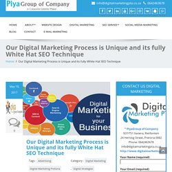 Our digital marketing process is unique and its fully white hat seo