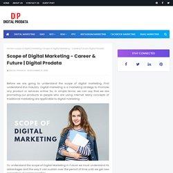 Scope of Digital Marketing - Career & Future