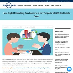 Digital Marketing Can Become a Key Propeller of B2B Real Estate Deals