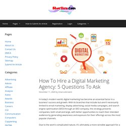How To Hire a Digital Marketing Agency: 5 Questions To Ask