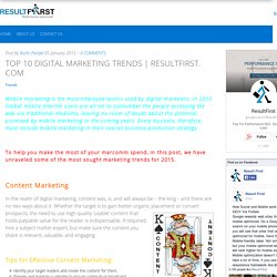 TOP 10 DIGITAL MARKETING TRENDS