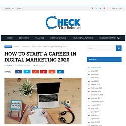 How to start a career in Digital Marketing 2020
