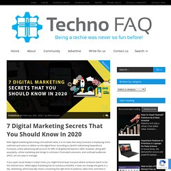 7 Digital Marketing Secrets That You Should Know In 2020