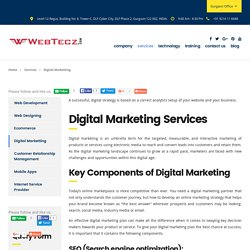 Digital Marketing, SEO, SMO, PPC Services At WebTecz.com