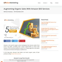 Augmenting Organic Sales With Amazon SEO Services