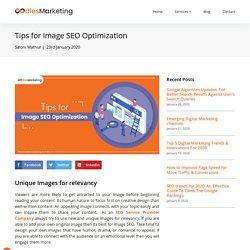 Tips for Image SEO Optimization