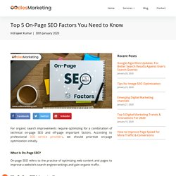 Top 5 On-Page SEO Factors You Need to Know