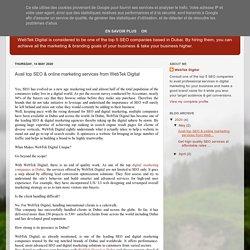 WebTek Digital Dubai: Avail top SEO & online marketing services from WebTek Digital