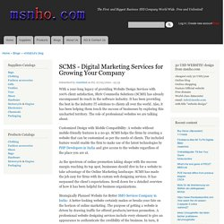 SCMS - Digital Marketing Services for Growing Your Company