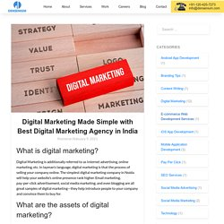 Digital Marketing Made Simple with Best Digital Marketing Agency in India