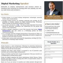 Digital Marketing Speaker