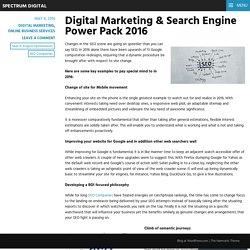 Digital Marketing & Search Engine Power Pack 2016