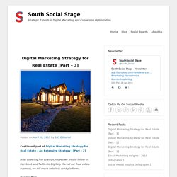 Digital Marketing Strategy for Real Estate [Part – 3]