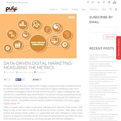 Digital Marketing using Data Driven Metrics - Pulp Strategy