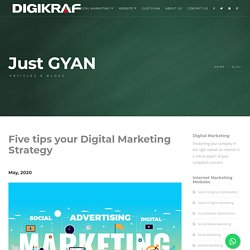 Digital Marketing Company Thane - Five tips your Digital Marketing Strategy