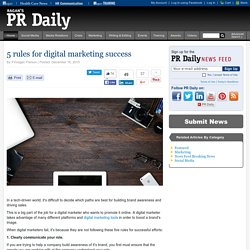 5 Tips for Digital Marketing Success