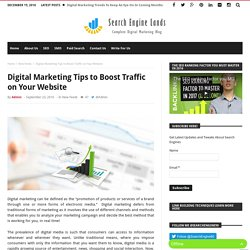Digital Marketing Tips to Boost Traffic on Your Website