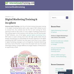 Digital Marketing Training & its sphere