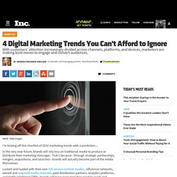 4 Digital Marketing Trends You Can't Afford to Ignore