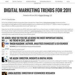 Digital Marketing Trends 2011
