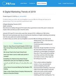 6 Digital Marketing Trends of 2019