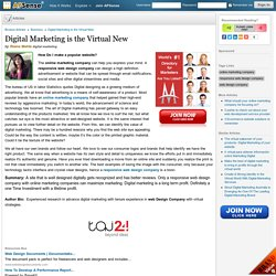 Digital Marketing is the Virtual New by Reena Mehta