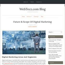Future & Scope Of Digital Marketing - WebTecz.com