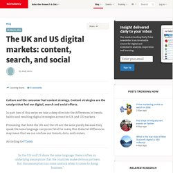 The UK and US digital markets: content, search, and social