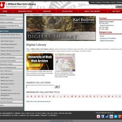 Digital Collections - Marriott Library - The University of Utah
