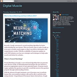 What is Neural Matching and How It Affects SEO?