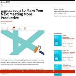 Digital Tools to Make Your Next Meeting More Productive
