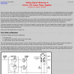 Adding Digital Metering to Astron 14V Linear Power Supplies