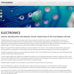 DIGITAL MICROSCOPES FOR VISUAL INSPECTION OF PRINTED CIRCUIT BOARDS