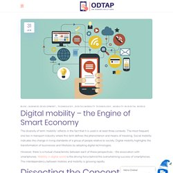 Digital mobility – the Engine of Smart Economy