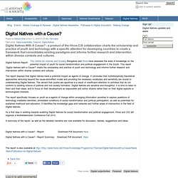 Digital Natives with a Cause?