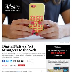 Article: Digital Natives, Yet Strangers to the Web