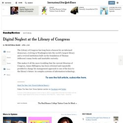 Digital Neglect at the Library of Congress