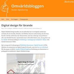 Digital design för lärande – Omvärldsbloggen