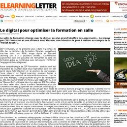 Le digital pour optimiser la formation en salle