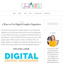 5 Ways to Use Digital Graphic Organizers - Jen Kimbrell