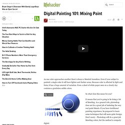 Digital Painting 101: Mixing Paint