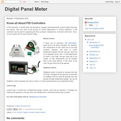 Digital Panel Meter: Know all About PID Controllers