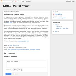 Digital Panel Meter: How to Use a Panel Meter