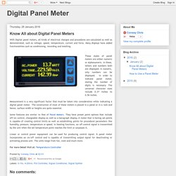 Digital Panel Meter: Know All about Digital Panel Meters