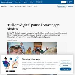 Tull om digital pause i Stavanger-skolen