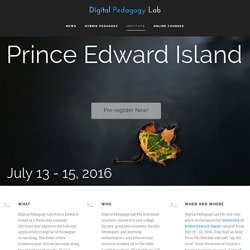 Home - Digital Pedagogy Lab Prince Edward Island