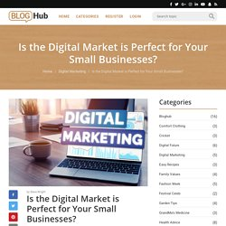 Is the Digital Market is Perfect for Your Small Businesses? - Blog HubBlog Hub